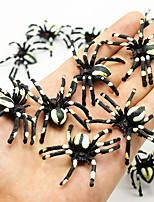 cheap -Halloween Party Toys Plastic Spiders 36 pcs Mini Prank Joking Props Party Favors PVC Kid's Adults Trick or Treat Halloween Party Favors Supplies