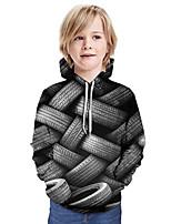 cheap -Kids Boys' Active Basic 3D Graphic Print Long Sleeve Hoodie & Sweatshirt Gray