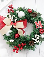 cheap -1pc Christmas Garland Christmas Ornaments, Holiday Decorations Party Garden Wedding Decoration 12 inches