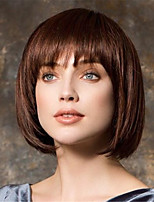 cheap -Wig Fashion Female Short Hair Brown Bobo Head Short Straight Hair Bangs Wig Headgear 14 Inches