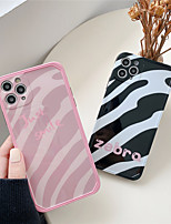 cheap -Case For Apple Scene Map iPhone 11 11 Pro 11 Pro Max Photo Frame Private Model Series Zebra pattern Pattern TPU Material IMD Craft Glossy Phone Case