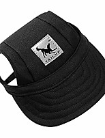 cheap -happy hours dog hat, pet baseball cap/dogs sport hat/visor cap with ear holes and chin strap for dogs and cats (black, size s)
