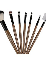 cheap -7pcs makeup cosmetic brushes eyeshadow eye shadow foundation blending brush (gold)