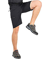 cheap -men's quick dry hiking shorts lightweight cargo shorts with 6 pockets, stretchy, water resistant, 32, black
