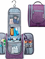 cheap -hanging travel toiletry bag kit cosmetic makeup organizer for women and girls (purple)
