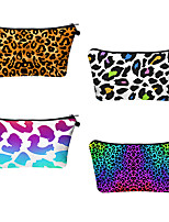 cheap -1pc Travel Organizer Cosmetic Bag Travel Toiletry Bag Large Capacity Waterproof Travel Storage Durable Leopard Print Polyester For Portable Foldable Luggage
