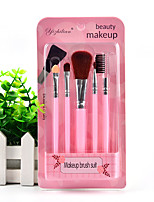 cheap -5 Pcs makeup makeup brush set for beginners beauty tool blush foundation eye shadow brush
