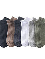 cheap -Men's Medium Socks - Solid Colored White Black Army Green One-Size