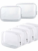 cheap -clear toiletry carry pouch with zipper portable pvc waterproof cosmetic bag for vacation travel bathroom and organizing