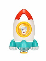 cheap -baby bath toys, beach interactive water spray family baby toddler space rocket fountain abs bath toys non-toxic for infants 2-6 years old (orange)