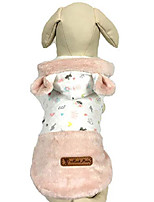 "cheap -pink white bunny girl dog clothes sweater hoodie for small dogs, xs 8"" back lengthsize"