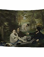 cheap -world classic art masterpiece tapestry series edouard manet luncheon on the grass 1863. classical art tapestry wall-hanging antique vintage collection home décor