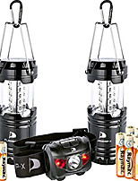 cheap -insane deal 2 lanterns 1 headlamp camping lights brightest cree led portable electric bonus waterproof head lamp flashlight for outdoors
