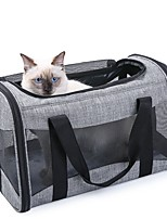 cheap -Dog Dog Backpack Portable Solid Colored Oxford Cloth Gray