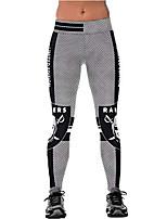 cheap -ladys raiders printed gym running leggings black/white s