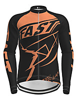 cheap -Men's Long Sleeve Cycling Jersey with Tights Black / Yellow Purple Red Novelty Bike Breathable Quick Dry Moisture Wicking Sports Novelty Mountain Bike MTB Road Bike Cycling Clothing Apparel