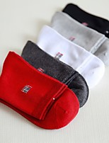 cheap -Men's Medium Socks - Solid Colored White Black Red One-Size