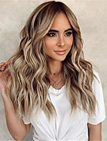 cheap -Synthetic Wig Body Wave Middle Part Wig Long Very Long Light Brown Synthetic Hair 65 inch Women's Party Highlighted / Balayage Hair Middle Part Brown