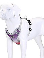 cheap -Dog Cat Harness Portable Solid Colored Polyester Labrador Alaskan Malamute Golden Retriever Dalmatian Beagle Bulldog Purple Blue 1pc