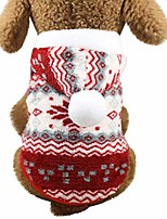 cheap -2020 new pet clothes christmas puppy hoodie coat soft velvet snowflake print fleece pajamas puppy soft pjs winter clothes coat for small dogs warm jacket christmas costume