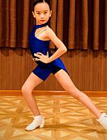 cheap -Latin Dance Dress Ruching Girls' Performance Spandex