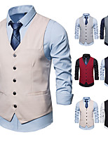 cheap -The Great Gatsby Retro Vintage Medieval Vest Men's Cotton Costume Gray & Black / Black / Red Vintage Cosplay Party Halloween Sleeveless