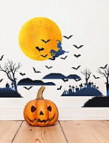 cheap -Halloween Decorations / Holiday Wall Stickers Plane Wall Stickers / Holiday Wall Stickers Decorative Wall Stickers PVC Home Decoration Wall Decal Wall Decoration 1pc