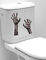cheap -3D Horror Handprint Halloween Wall Stickers Decorative Wall Stickers, PVC Home Decoration Wall Decal Wall Decoration / Removable