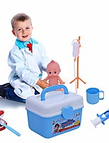 cheap -wearefo kids doctor playset 35pcs doctor pretend play kit role playing game simulation medical boxes preschool educational toys kids pretend medical kit with storage box (blue)