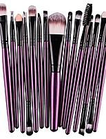 cheap -15 pcs/sets eye shadow foundation eyebrow lip brush makeup brushes tool & #40;purple& #41;