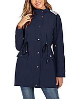 cheap -women raincoat waterproof windbreaker lined rain jacket lightweight trench coats navy blue large