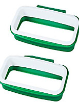"cheap -over the cabinet plastic trash bag holder for kitchen,rv,bathroom,dorm room,office, 8.6""x4.9"" 2 pack"