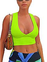 cheap -women& #39;s sexy deep v neck back cutout tight sleeveless racerback tank crop tops & #40;royalblue, large& #41;