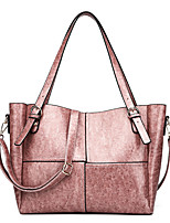 cheap -Women's Bags PU Leather Top Handle Bag Zipper for Daily / Date Black / Blushing Pink / Brown