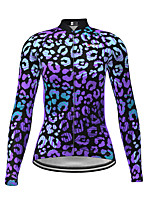 cheap -Women's Long Sleeve Cycling Jersey Purple Novelty Bike Jersey Top Mountain Bike MTB Road Bike Cycling Quick Dry Sports Clothing Apparel / Micro-elastic