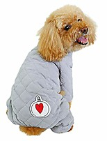 cheap -dog cotton padded coat fleece winter warm jacket thick jumpsuit soft pajamas clothes for cold weather blue