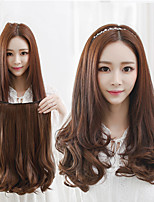 cheap -Synthetic Wig Curly Middle Part Wig Medium Length Light Brown Synthetic Hair 14 inch Women's Classic Exquisite Fluffy Light Brown