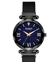 cheap -CURREN Women's Quartz Watches Quartz Formal Style Modern Style Luxury Water Resistant / Waterproof Analog Rose Gold Black Blue / One Year / Stainless Steel / Japanese / Shock Resistant / Japanese