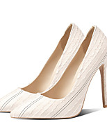 cheap -Women's Heels Stiletto Heel Pointed Toe Classic Daily Office & Career Solid Colored PU Walking Shoes Black / Light Grey / Beige