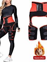 cheap -2 in 1 ultra sweat belt.waist trainer trimmer for women weight loss thigh waist butt lifter shapewear belt-workout body sweat band red