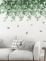 cheap -Green Leaf Wall Stickers Falling Leaves Wall Stickers Decorative Wall Stickers PVC Home Decoration Wall Decal Wall Decoration 2pcs