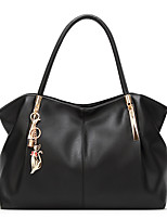 cheap -Women's Bags PU Leather Top Handle Bag Zipper for Daily Date Black Red Gold Milky White
