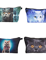 cheap -1pc Travel Organizer Cosmetic Bag Travel Toiletry Bag Large Capacity Waterproof Travel Storage Durable Cat Polyester For Portable Foldable Luggage