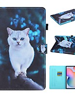 cheap -Case For Samsung Galaxy  Tab A 10.1 2019 T510 T515 Tab A 8.0 2019 T290 295 Tab S6 Lite SM-P610 615 Wallet Card Holder with Stand Full Body Cases Animal PU Leather