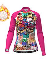 cheap -21Grams Women's Long Sleeve Cycling Jacket Winter Fleece Fuchsia Bike Jacket Top Mountain Bike MTB Road Bike Cycling Fleece Lining Warm Sports Clothing Apparel / Micro-elastic