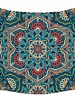cheap -queen size dark green hippie tapestry wall art hanging mandala tapestries polyester bedspread picnic blanket bohemian wall art tapestry 60x80inches & #40;60x80inch, dark green& #41;