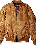 cheap -boys' big ma-1 bomber flight jacket with biker detail, caramel, medium