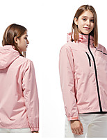cheap -Women's Hiking Jacket Summer Outdoor Solid Color Thermal Warm Waterproof Windproof Breathable Jacket Single Slider Climbing Camping / Hiking / Caving Traveling Black / Fuchsia / Pink / Ivory