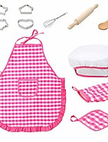 cheap -kitchen toys kid craft,11pcs cooking apron hat baking set kitchen costume role play kitchen cooking set toddler gift toy perfect early educational development gift