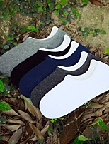 cheap -Men's Thin Socks - Solid Colored White Black Light gray One-Size
